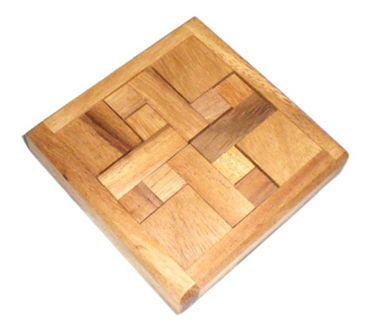 Das 4 'Z' Puzzle Legepuzzle Holz Puzzle Knobel IQ-Spiel – Bild 1