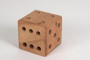 Knobel Würfel mit Inhalt Irrgarten Holz Puzzle Knobel IQ-Spiel