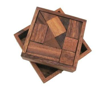 Überraschungsbox Holz Puzzle Knobel IQ-Spiel – Bild 1
