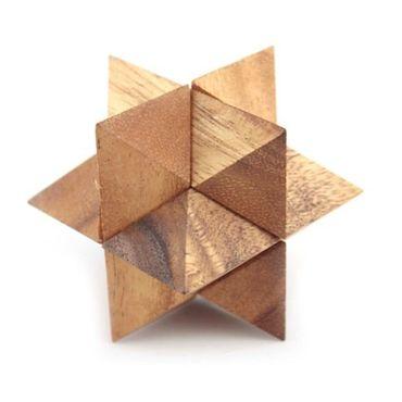 X Stern Puzzle - Star Puzzle Holz Puzzle Knobel IQ-Spiel