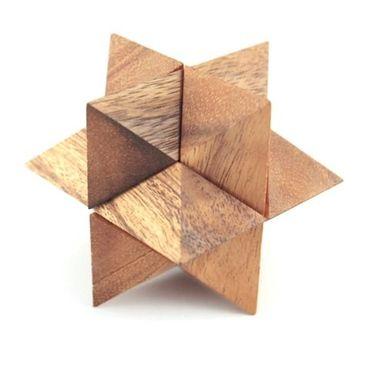 X Stern Puzzle - Star Puzzle Holz Puzzle Knobel IQ-Spiel – Bild 3