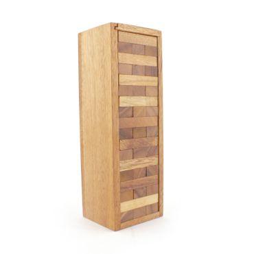 X Jenga, Holzturm, Wackelturm M Holz Puzzle Knobel IQ-Spiel – Bild 1