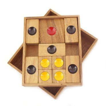 X Flucht, Escape Schiebespiel Holz Puzzle Knobel IQ-Spiel – Bild 1