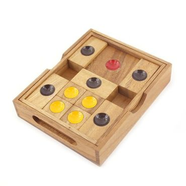 X Flucht, Escape Schiebespiel Holz Puzzle Knobel IQ-Spiel – Bild 2