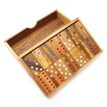 X 6er Domino Holz Puzzle Knobel IQ-Spiel – Bild 1