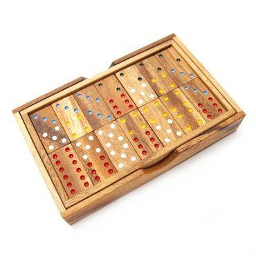 X 6er Domino Holz Puzzle Knobel IQ-Spiel – Bild 3