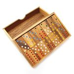 X 6er Domino Holz Puzzle Knobel IQ-Spiel 001