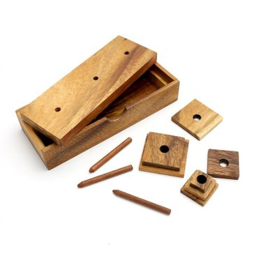 X Der Turm von Hanoi, Pagoda Turm Wanderturm Holz Puzzle Knobel IQ-Spiel