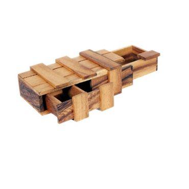 Doppel Pandora Box - Double Magic Box Schatztruhe Holz Puzzle Knobel IQ-Spiel – Bild 1