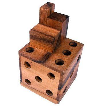 3D Würfel - Packing Box Holz Puzzle Knobel IQ-Spiel – Bild 1