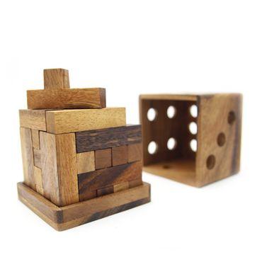 3D Würfel aus Y's Holz Puzzle Knobel IQ-Spiel