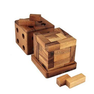 3D Würfel aus Z's Holz Puzzle Knobel IQ-Spiel – Bild 2