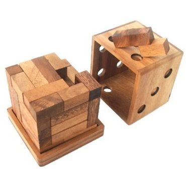 3D Würfel aus Z's Holz Puzzle Knobel IQ-Spiel – Bild 5