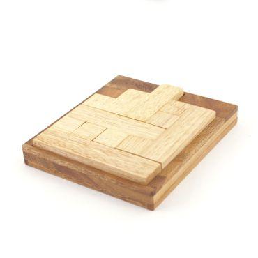 On Way, Einweg Legespiel Holz Puzzle Knobel IQ-Spiel – Bild 1