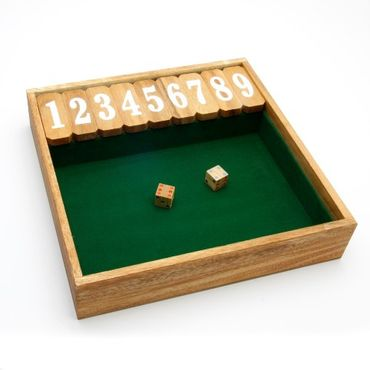 Shut the Box, Schließe die Box XXL Holz Puzzle Knobel IQ-Spiel – Bild 1