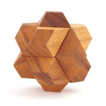 Sternen Würfel - Star Cube Holz Puzzle Knobel IQ-Spiel – Bild 1