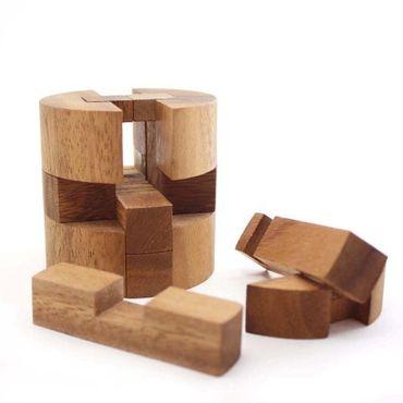 Diamant Puzzle, Runder Diamant Fass Holz Puzzle Knobel IQ-Spiel – Bild 2