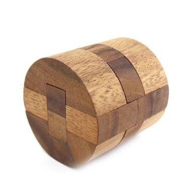 Diamant Puzzle, Runder Diamant Fass Holz Puzzle Knobel IQ-Spiel – Bild 4