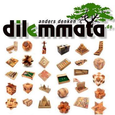 Diamant Puzzle, Runder Diamant Fass Holz Puzzle Knobel IQ-Spiel – Bild 5
