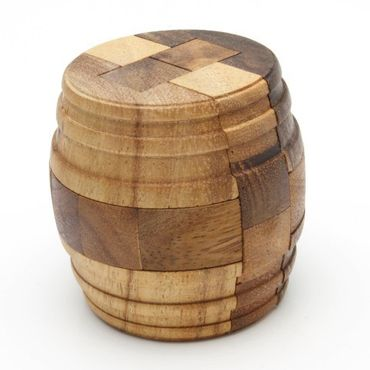 Fass-Puzzle, Zylinder-Puzzle, Fass des Diogenes Holz Puzzle Knobel IQ-Spiel