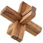Gekreuzte Stäbchen - Cross Stick Holz Puzzle Knobel IQ-Spiel 001