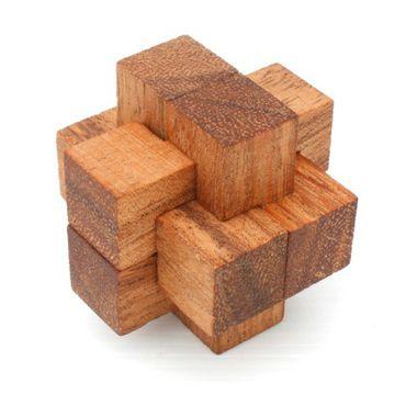 Teufelsknoten Notto Burr Puzzle  Würfel Holz Puzzle Knobel IQ-Spiel