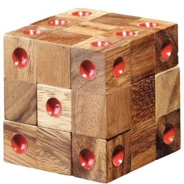 Domino Würfel Puzzle Würfel Puzzle Holz Puzzle Knobel IQ-Spiel – Bild 4