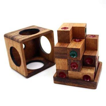 Domino Würfel Puzzle Würfel Puzzle Holz Puzzle Knobel IQ-Spiel – Bild 5