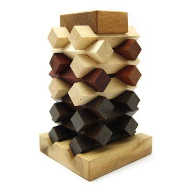 Turm von Pisa - Pisa Tower Holz Puzzle Knobel IQ-Spiel