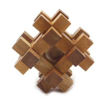 12er Puzzle Würfel Holz Puzzle Knobel IQ-Spiel