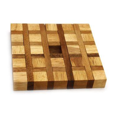 Center Karo - Center Square Legespiel Holz Puzzle Knobel IQ-Spiel