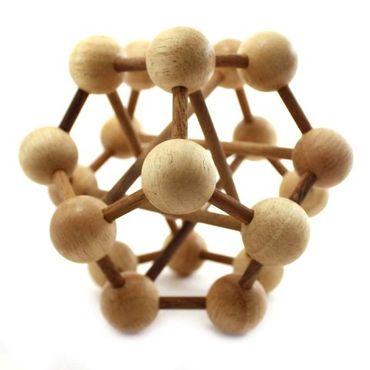 Galaxy Puzzle / Atom Puzzle Holz Puzzle Knobel IQ-Spiel – Bild 1