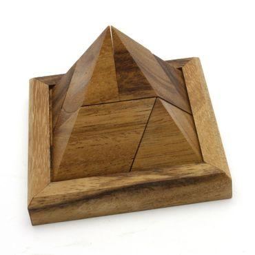 Pyramide, Pyramiden Puzzle 5-teilig Holz Puzzle Knobel IQ-Spiel – Bild 1