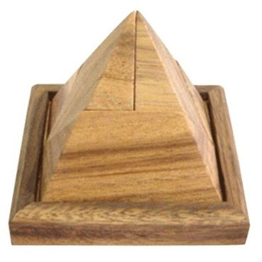 Pyramide, Pyramiden Puzzle 5-teilig Holz Puzzle Knobel IQ-Spiel – Bild 3