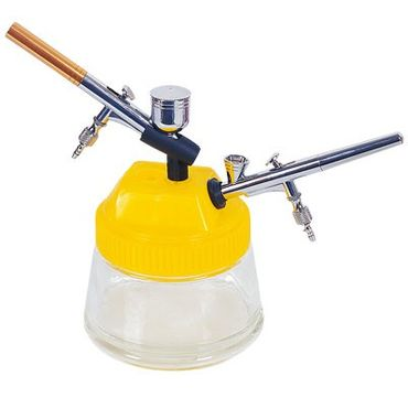 Reinigungstopf und Halter für Airbrush Pistolen
