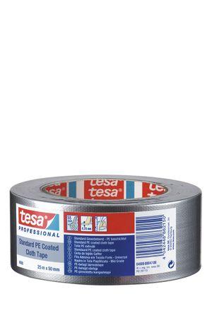TESA Gewebeband tesaband® 4688 Standard, silbergrau 50 mm x 50 m VE= 18 St.