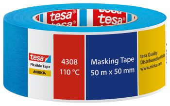 TESA Abdeckband tesa® Mirka 4308 – Flexible Tape, blau 50 mm x 50 m VE= 36 St.