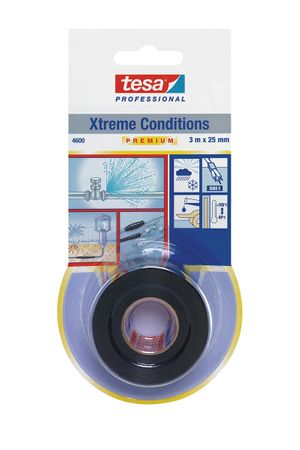 TESA Reparaturband tesa® 4600 Xtreme Conditions, schwarz 25 mm x 3 m VE= 16 St.