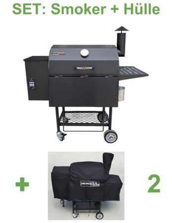 Kombi: Pelletsmoker S + Cover (Profi Pelletgrill Smoker Holzpelletsmoker Holzpelletgrill)