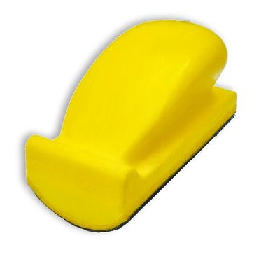 Handblock  70 x 125 mm Kunststoff, GRIP Klett mit runder Fläche – Bild 1