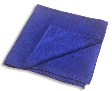 Microfasertuch  40 x 40 cm Microfaster Tuch hoch saugfähig, blau – Bild 1