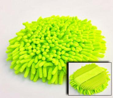 Microfaser Pad ca. Ø 200mm mit 25mm Lamellen, hoch saugfähig grün – Bild 1