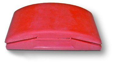 MIRKA Handblock ohne Absaugung  70 x 125 x 30 mm   ungelocht (1 St)  für 1/4 Bögen, mit Klemmvorrichtung, Kautschuk – Bild 1