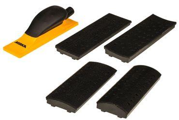 MIRKA Handblock mit Absaugung (KIT)  70 x 198 mm Klett  40-Loch (1 St)  Kunststoff – Bild 1