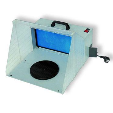 MINI PROFI AIRBRUSH KABINE LACKIERKABINE 230V/12V mit LED Strahlern – Bild 2