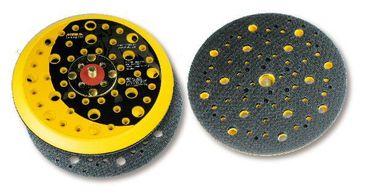 """MIRKA Abranet Grip-Teller (PU) medium Ø 150 mm Klett  51-Loch (1 St)  5/16"""" Gewinde, inkl. Schutzauflage,  geeignet für 6-Loch, Abranet – Bild 1"""