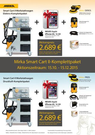 Aktion! MIRKA SMART CART II - Komplettpaket Elektro inkl. Apple iPhone 6s, 16 GB – Bild 2
