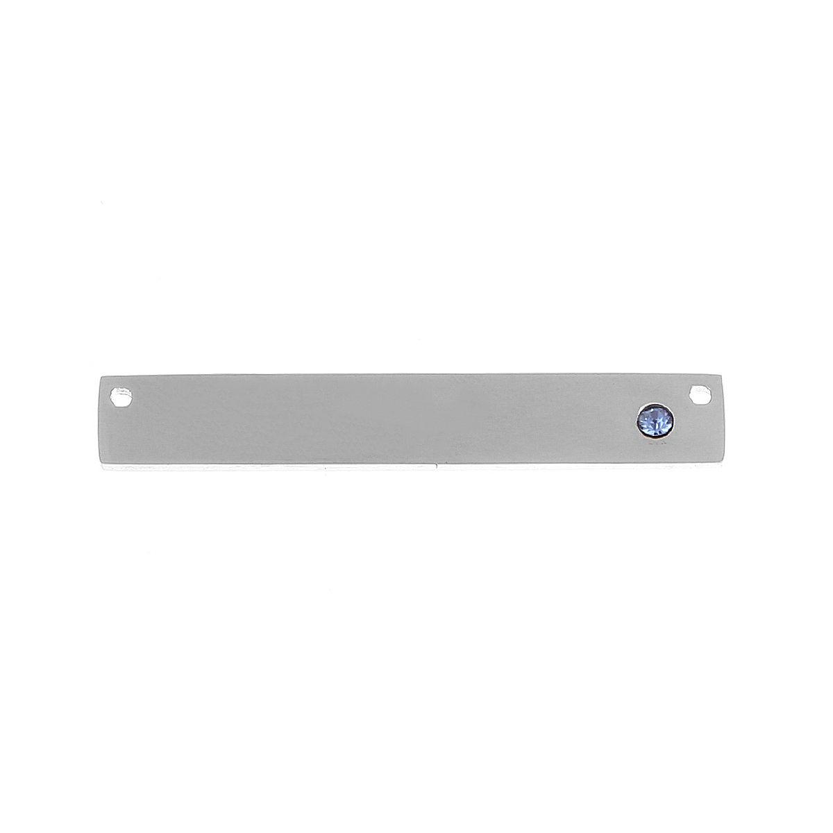 Schmuckverbinder Monatsstein  - 1 Stück - 38 x 6 mm