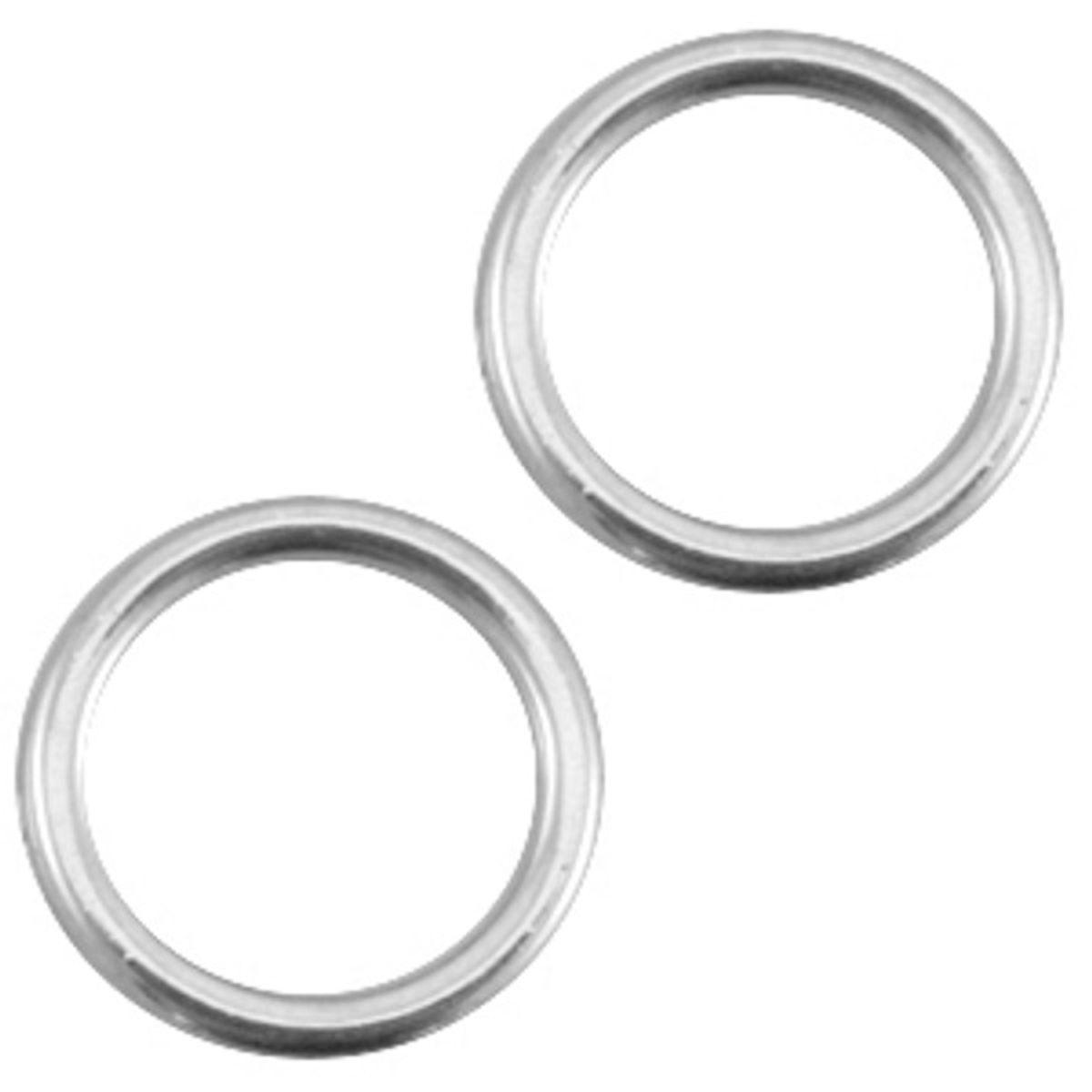 DQ Metallring - 2 Stück - Ø 13 mm
