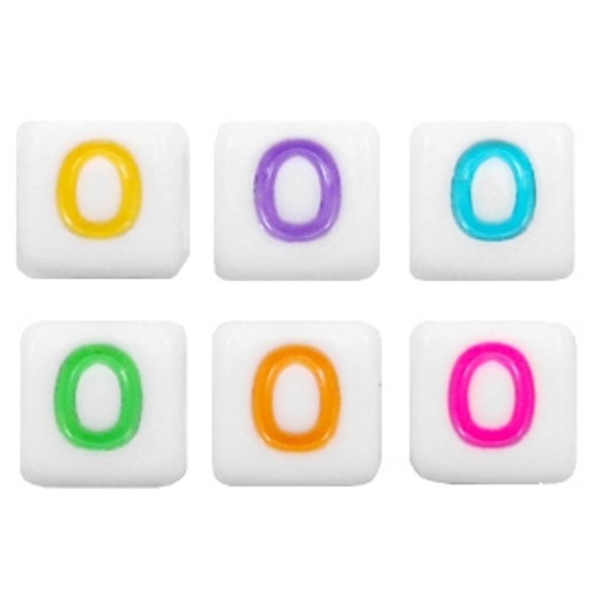 Buchstabenperlen Acryl - 10 Stück - 6 x 6 mm